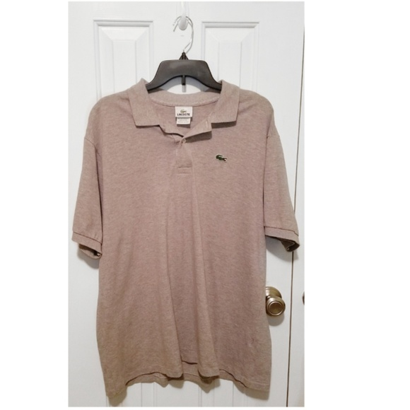 8cc8b91f917db Lacoste Other - Lacoste size 7 XL men s polo shirt taupe EUC
